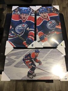 Oilers pictures on hardboard