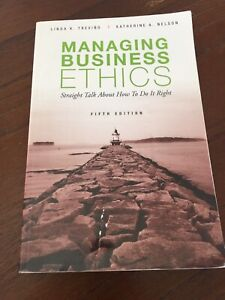 Textbook Managing Business Ethics Wavell Heights Brisbane North East Preview