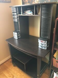 Wooden desk with pullout keyboard and a lot of storage space !!!