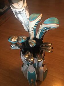LADIES GOLF CLUBS SET,BAG, PULL CART AND DRIVER
