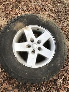 Jeep Rubicon Wrangler  rims and tires (Only 2 Available)