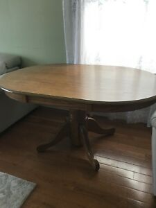 Oval Wood Table for Sale