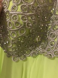 Beautiful lime Green strapless dress NEED GONE