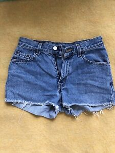LEVI'S wedgie jeans shorts, size 24, 40$
