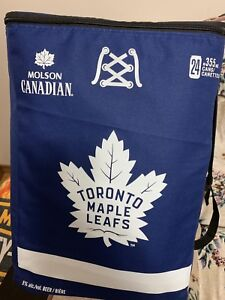 Molson Canadian Toronto Maple Leafs cooler backpack
