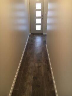 Skirting boards supplied, installed and fully decorated
