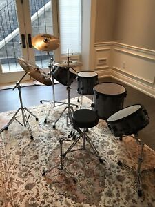 Sonor Drum Kit and Sabian Cymbals