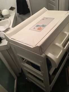 Baby change table, bath and storage