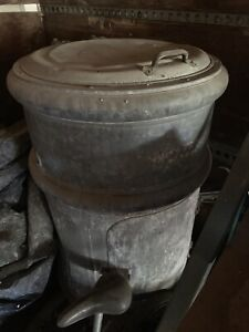 Antique barrel fridge