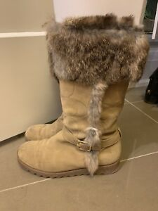Authentic Coach Suede Boots