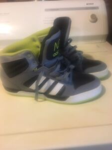 Adidas high top sneakers 9.5