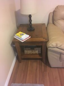 Solid coffee table and  1 end table