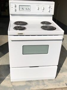 White Electric Range - Great Working Order