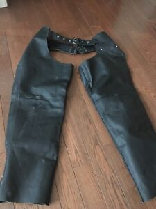 Leather chaps XL female