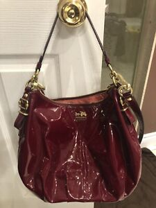 Authentic COACH ruby red purse
