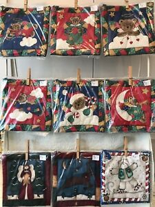 Christmas quilted pot holders/trivets