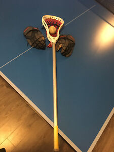 Gait lacrosse stick gloves and ball