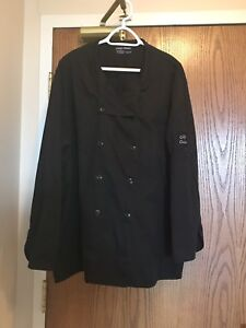 Two 2XL chef's jackets