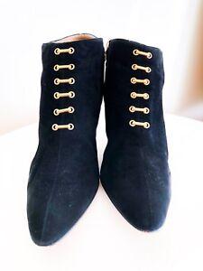 Ankle Black suede Boot Black   Botte en Suède noir