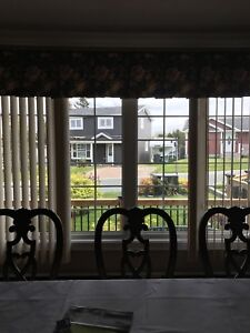 Custom made blinds and drapery - REDUCED PRICE