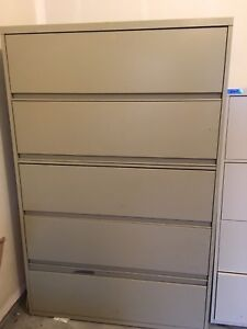 Large heavy and secure office filing / file cabinets