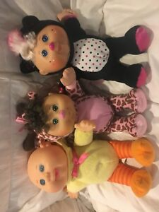 3 Cabbage patch dolls