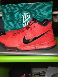 Kyrie 3 Candy Apple University Red Size 11.5