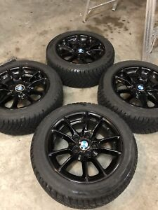 "BMW 16"" OEM Wheels and Winter Tires 205/55/16"