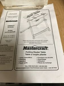 Mastercraft Folding Router Table Manual