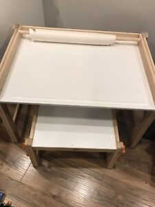 IKEA desk with bench