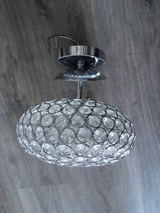 Round crystals chrome mount lamp