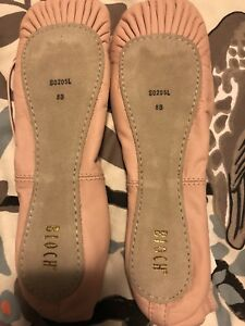 Bloch leather ballet shoes - brand new size 8B