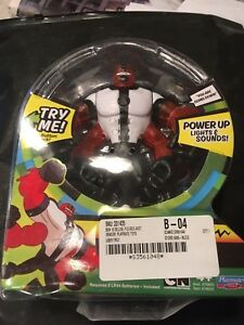 New Ben 10 Power Up Four Arms Deluxe Action Figure - no box
