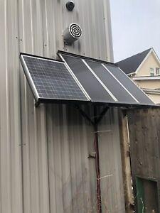 full solar panel setup.