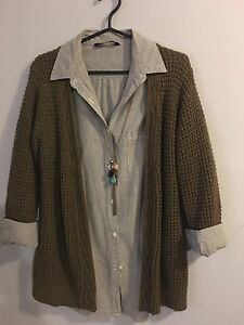 Medium dress shirt and sweater
