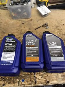 Polaris adc fluid, gear oil and transmission oil.