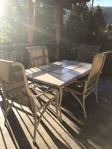 Large solid patio table
