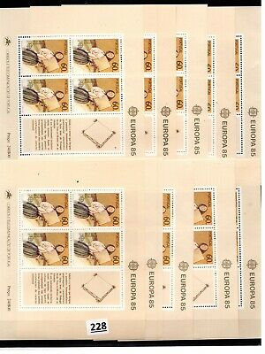 # 10X PORTUGAL - MNH - EUROPA CEPT 1985 - MUSICAL INSTRUMENTS - MUSIC