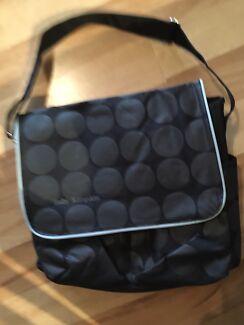 Baby Kingdom nappy diaper bag black circles