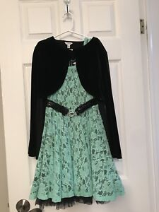 Girls Dress with belt size10-12