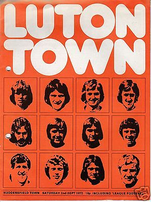 LUTON TOWN  V  HUDDERSFIELD TOWN   2ND DIVISION   2/9/72