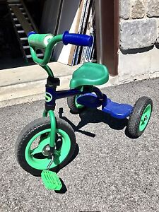 Toddler's blue and green tricycle
