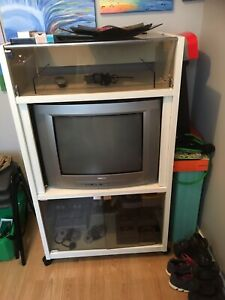 """21"""" tube tv with stand"""