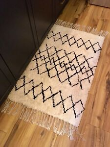New! Moroccan shag rug with grip pad.