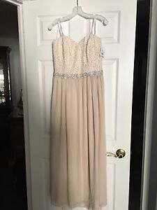 Plus Size Blush Embellished prom/bridesmaid dress