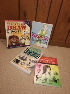 Artists Drawing Books