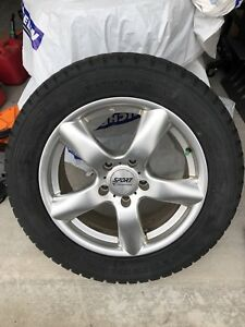 4 winter tires on alloy rims 255/55/R18