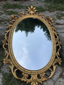 GOLD OVAL PROVENCAL MIRROR