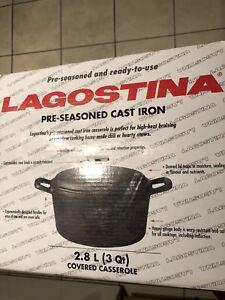 LAGOSTINA Pre-Seasoned Cast Iron Pot