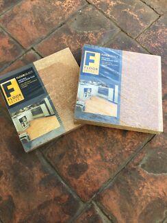 Cork floor tiles (12 pieces) new/sealed!